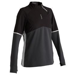 成人足球训练套头衫 T500 -黑色