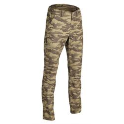 荒野探险轻薄纯棉长裤-浅绿迷彩