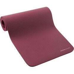 500 地板健身垫 舒适款 中号 15 毫米厚 - 暗红色