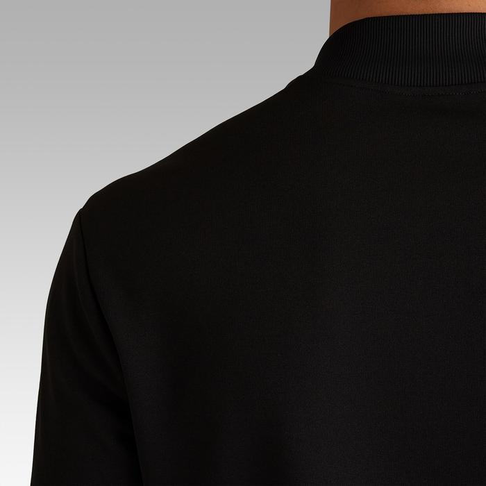 成人轻便足球夹克Essential 100 - 炭黑