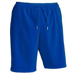 成人足球运动短裤F500 -蓝色
