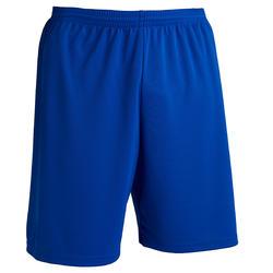 成人足球运动短裤F100 蓝色