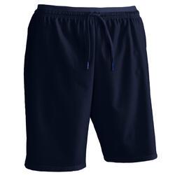 成人足球运动短裤F500 -海军蓝