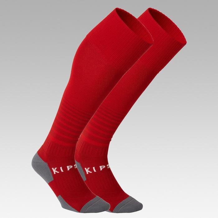儿童足球袜F500 - 红色