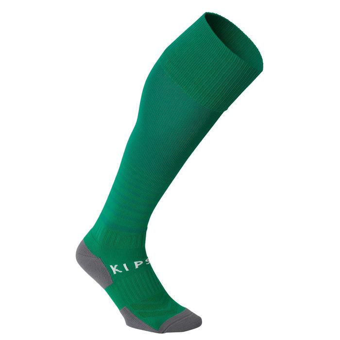 儿童足球袜F500 - 绿色