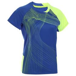 女式羽毛球运动T恤 560 黄色
