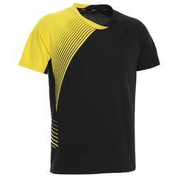 男式运动T恤 530 黑色 黄色
