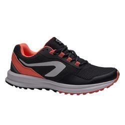 RUN ACTIVE GRIP 女士抓地慢跑鞋-灰/珊瑚红配色