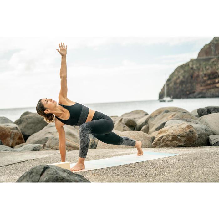 女式瑜伽无缝紧身裤- Black/Silver