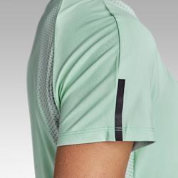 女式跑步运动快干T恤-浅绿色