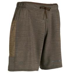 男式快干跑步短裤-棕色
