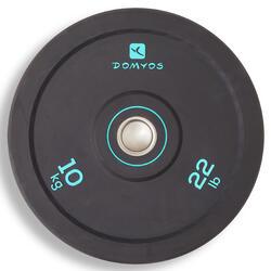 举重训练减震杠铃片 内径 50 毫米 10 公斤