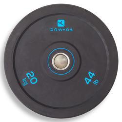 肌肉塑型训练减震杠铃片 内径 50 毫米 20 公斤