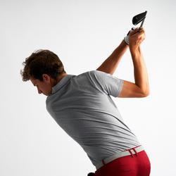男士凉爽天气高尔夫Polo衫500系列 花灰色