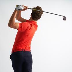 男士 凉爽天气高尔夫Polo衫-珊瑚红