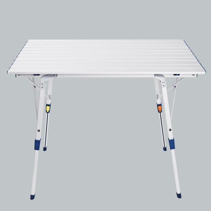露营折叠桌(蛋卷桌)-金属色丨QUECHUA