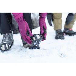 SH100 冬季徒步雪地强力防滑鞋底保护套 - 黑色