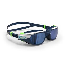 游泳眼镜500 SPIRIT , S 号- Blue Green, Mirror Lenses
