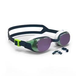 游泳眼镜500 B-FIT - Blue Green, Mirror Lenses