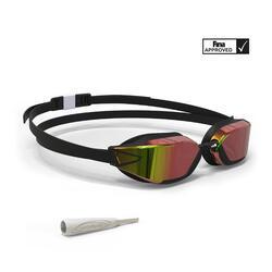 游泳眼镜900 B-FAST - Black Red, Mirror Lenses