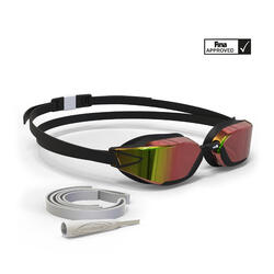 游泳眼镜900 B-FAST - Black Red, Mirror Lenses