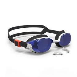 游泳眼镜500 B-FIT Orange Blue, Mirror Lenses