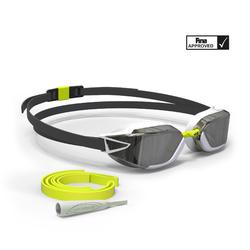 游泳眼镜900 B-FAST - Black Yellow, Mirror Lenses
