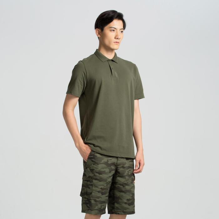 荒野探险纯棉短袖POLO衫-军绿色