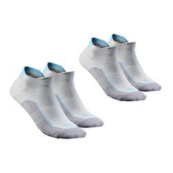 低帮郊野徒步袜-2双装-岩灰/淡蓝丨NH500