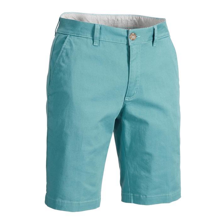 男士凉爽天气高尔夫短裤-蓝灰色