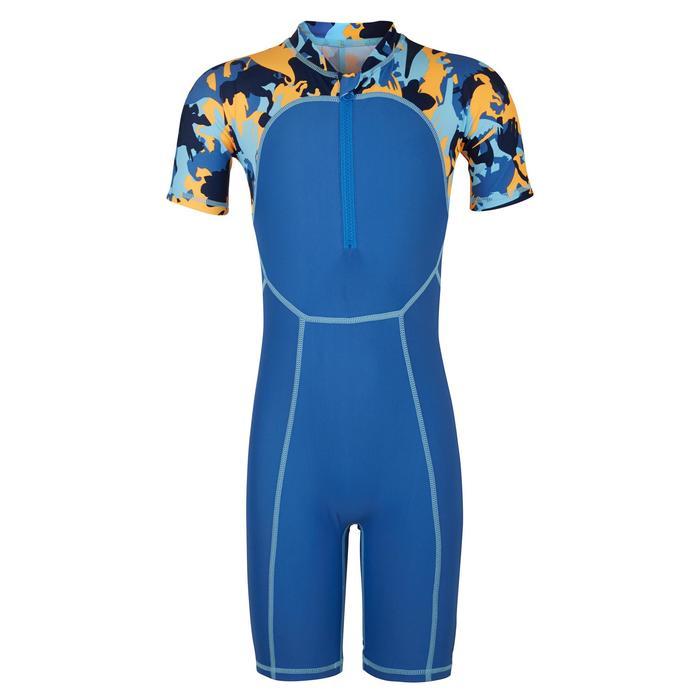婴儿短款短袖连体泳衣Blue print