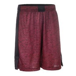 篮球运动短裤SH500 中阶篮球爱好者- 酒红色/黑色