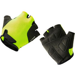 500 Kids' Cycling Gloves - Yellow