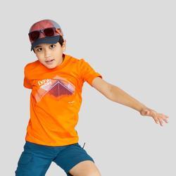 男童青少年山地徒步 T 恤 MH100 (7 至 15 岁)- 橙色