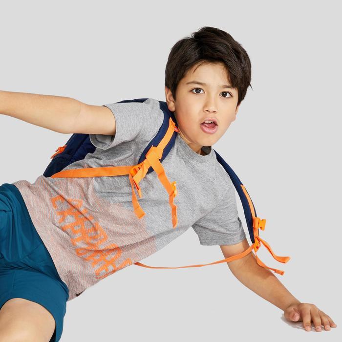 男童青少年山地徒步 T 恤 MH100 (7 至 15 岁)- 灰色