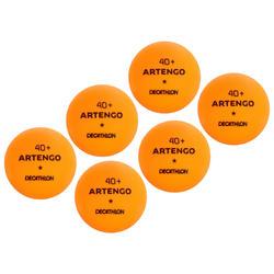 乒乓球TTB 100 一星 40+ 6只装-橙色