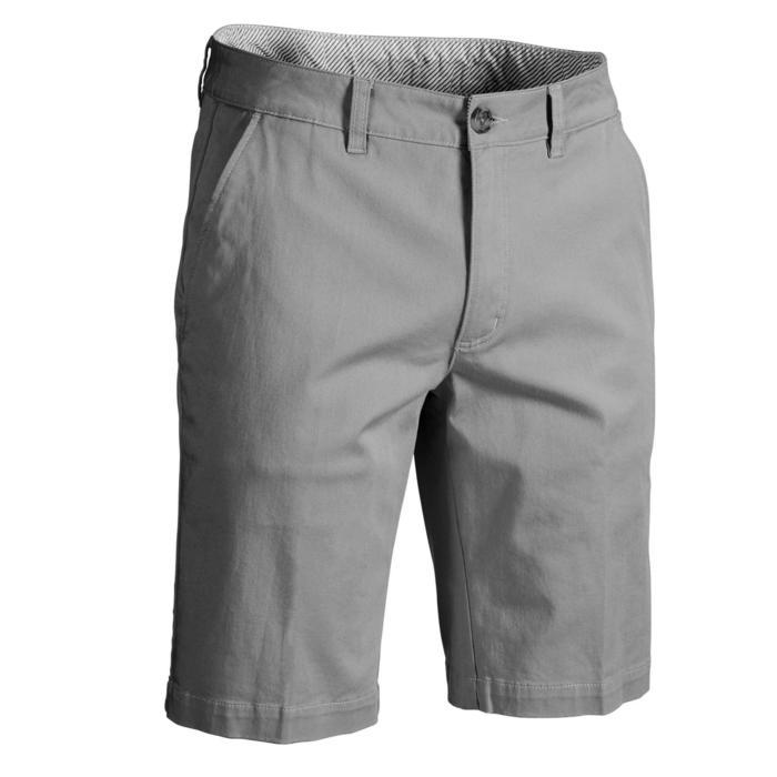 男士凉爽天气高尔夫百慕大短裤-灰色