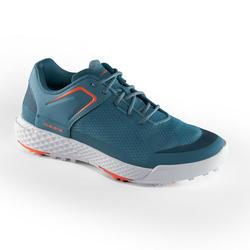 女士高尔夫运动球鞋透气防滑 蓝绿色