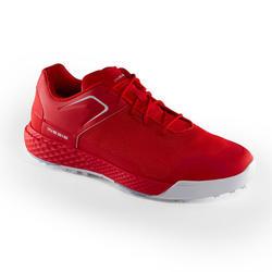男士高尔夫球鞋透气防滑 红色