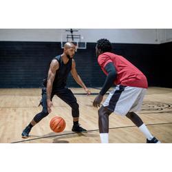 篮球运动七分紧身裤 适用于中阶篮球爱好者- 黑色