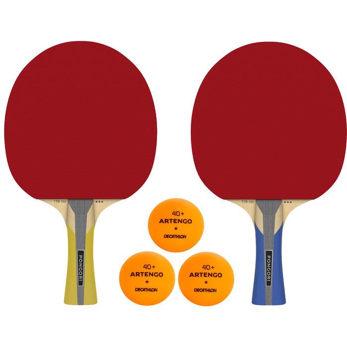 乒乓球拍TTR 100 3* 长柄 两拍三球
