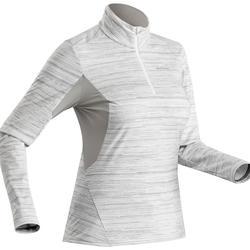 SH500 女式冬季徒步保暖长袖T恤 - 白色