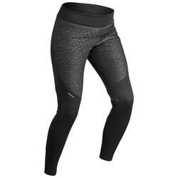 SH500 女式冬季徒步防雪保暖紧身裤 - 黑色