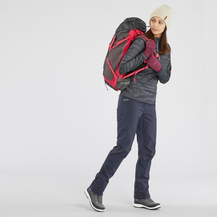 SH500 女式冬季徒步长袖保暖T恤 - 黑色