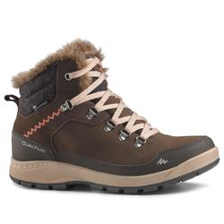 SH500 女式冬季徒步保暖雪地靴 中帮 X-WARM - 咖啡色