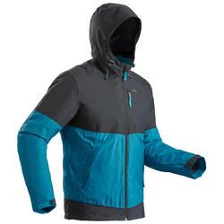 SH100 男式冬季徒步防雪保暖夹克 X-WARM - 蓝灰色