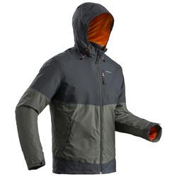 防雪夹克-男士-保暖-棕色   QUECHUA SH100