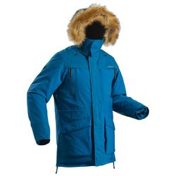 SH500 男式冬季徒步防雪保暖派克大衣 ULTRA-WARM - 蓝色