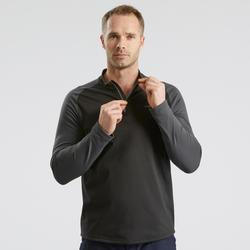 SH100 男式冬季雪地徒步长袖保暖T恤 - 黑色