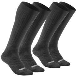 SH100 成人冬季雪地徒步保暖袜 高帮 - 黑色
